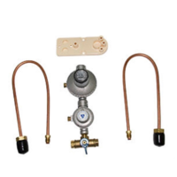 CAVAGNA LPG DUAL REGULATOR KIT UP TO 250MJ/h COPPER PIGTAILS & MANUAL
