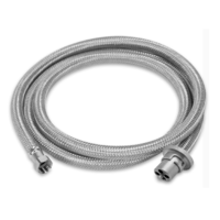 WEBER 2MTR STAINLESS BRAIDED GAS HOSE 3/8 SAE W/ BAYONET COUPLING NATURAL & LPG Webber